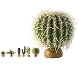 Растение иск. - Exo-Terra Desert Ground Plants - Barrel Cactus - Medium - арт.: PT2985