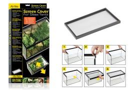 Сетчатая крышка для стеклянных аквариумов и террариумов - Exo-Terra Screen Cover - 30 x 60 см - арт.: PT2672
