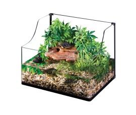 Террариум стеклянный для черепах - Exo-Terra Turtle Terrarium - 60 x 45 x 30/45 см (Medium) - арт.: PT3747