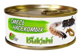 Корм консервированный Bukahi - Смесь насекомых (сверчок, мучной червь, зофобас) - 40 г
