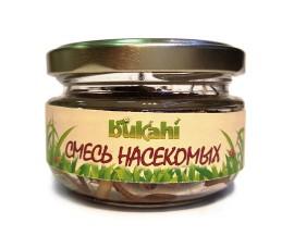Корм консервированный Bukahi - смесь насекомых (сверчок, зофобас, мучной червь) / 40 г - арт.: BU-192005