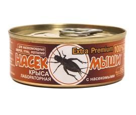 Корм консервированный Насекомыши - Крыса лабораторная с насекомыми / 95 г - арт.: 1246