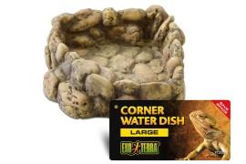 Поилка угловая - Exo-Terra Corner Water Dish - Large, 19 x 21 x 6 см